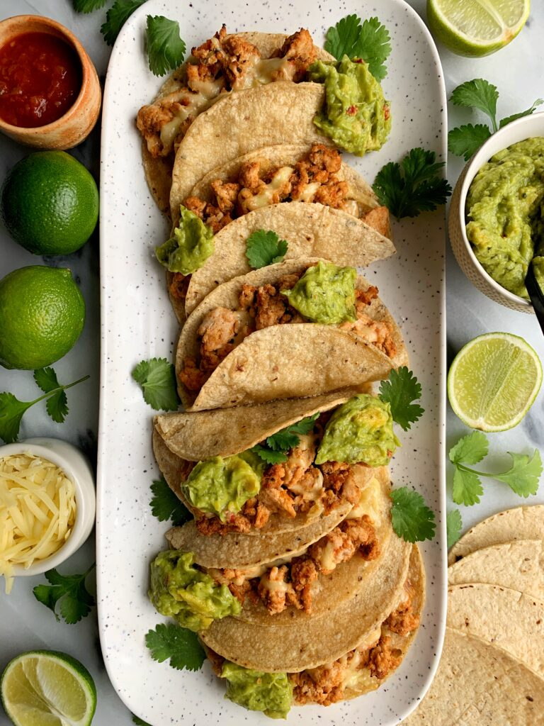 The Best Ever Healthy Chipotle Tacos! Easy to make taco recipe that comes together in just 20 minutes. Plus it is gluten-free and a family favorite to make.
