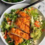 Delicious Crispy Paleo Buffalo Chicken Salad