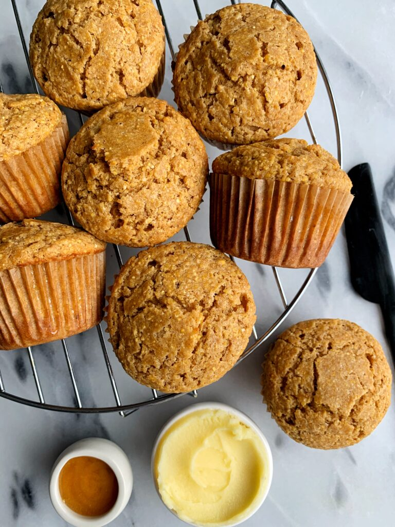 The Best Ever Gluten-free Cornbread Muffins made with just 7 key ingredients for an easy, delicious and healthy homemade corn muffin recipe!