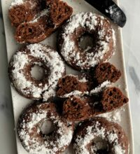Insanely Good Vegan Chocolate Cake Donuts