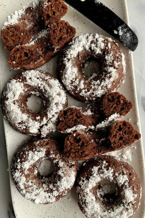 Insanely Good Vegan Chocolate Cake Donuts