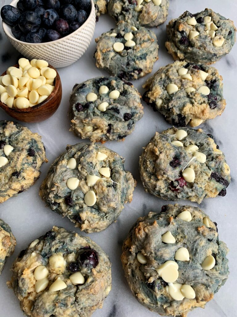 Say hello to the new cookie in town, Blueberry Pancake Cookies! Made with just 5 ingredients - these cookies are the ultimate twist with the most delicious blueberry pancake flavor with chunks of white chocolate.