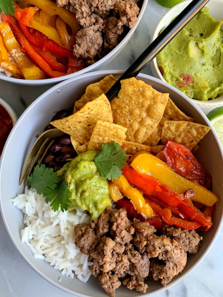 These 20-minute Healthy Burrito Bowls are a family favorite for quick and easy weeknight dinners. Plus they make for killer leftovers the next day and are gluten-free and dairy-free.