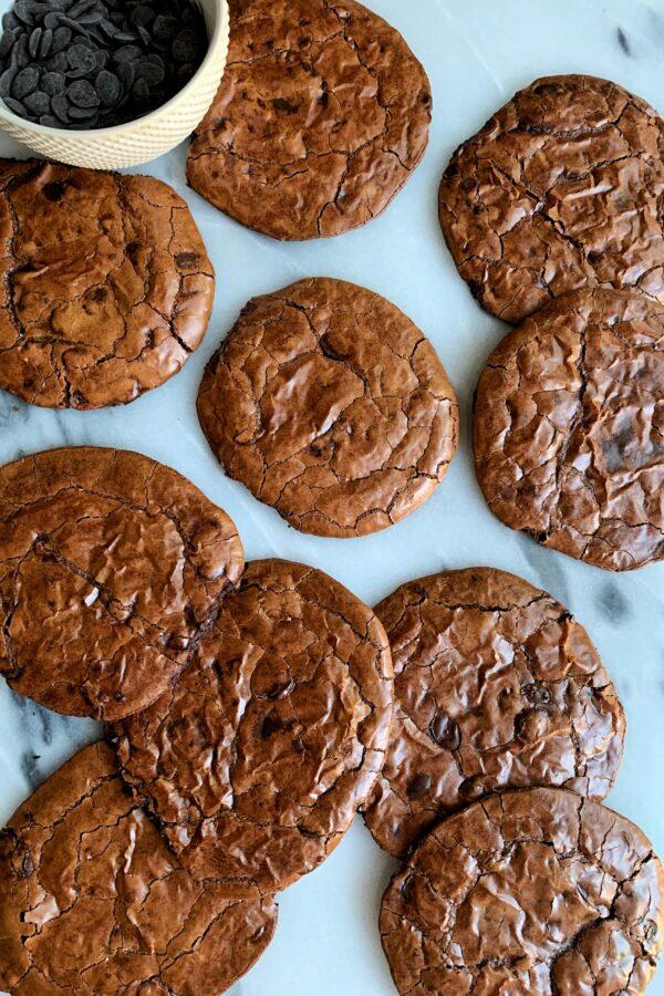 Fudgy Perfect Mudslide Cookies (gluten-free)