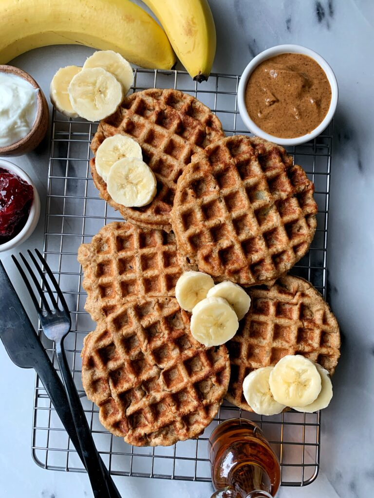TheseGluten-free Oatmeal Blender Waffles are such an easy and delicious waffle recipe to whip up when the craving strikes. Plus they have no added sugar and are a delicious and healthy waffle recipe for the whole family (toddler approved!)