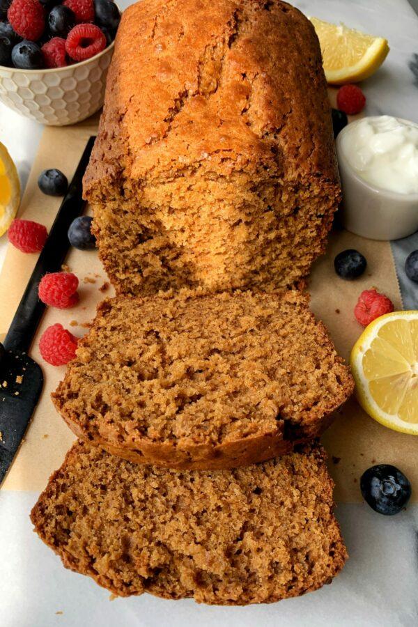 Delicious Gluten-free Lemon Olive Oil Pound Cake
