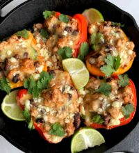 Easy and Healthy Taco Stuffed Peppers!
