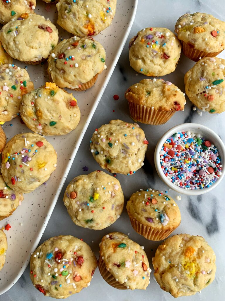 These Copycat Little Bites Party Cake Muffins are the *ultimate* funfetti muffins to whip up. They're cakey, fluffy and beyond addicting!