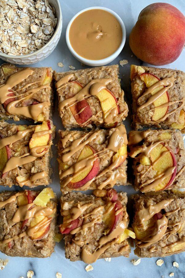 The Easiest Peach Baked Oatmeal (gluten-free)