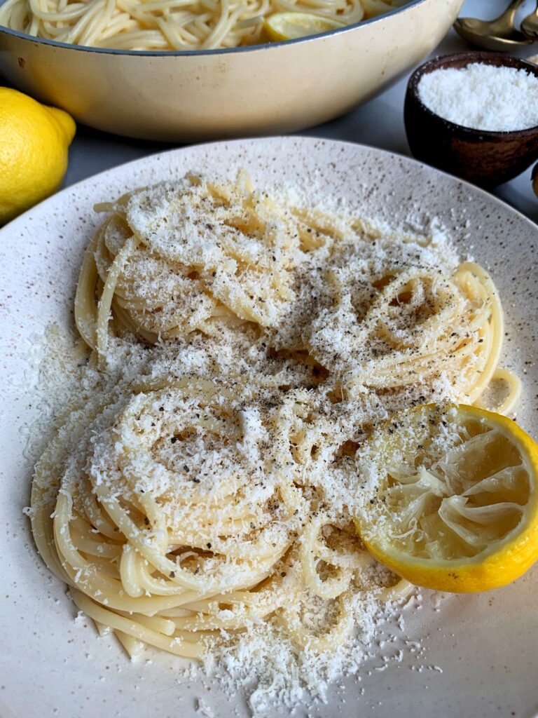 The easiest, quickest and most delicious lemon pasta recipe! Made with just 4 simple ingredients and this meal comes together in under 20 minutes - it is CRAZY good guys!