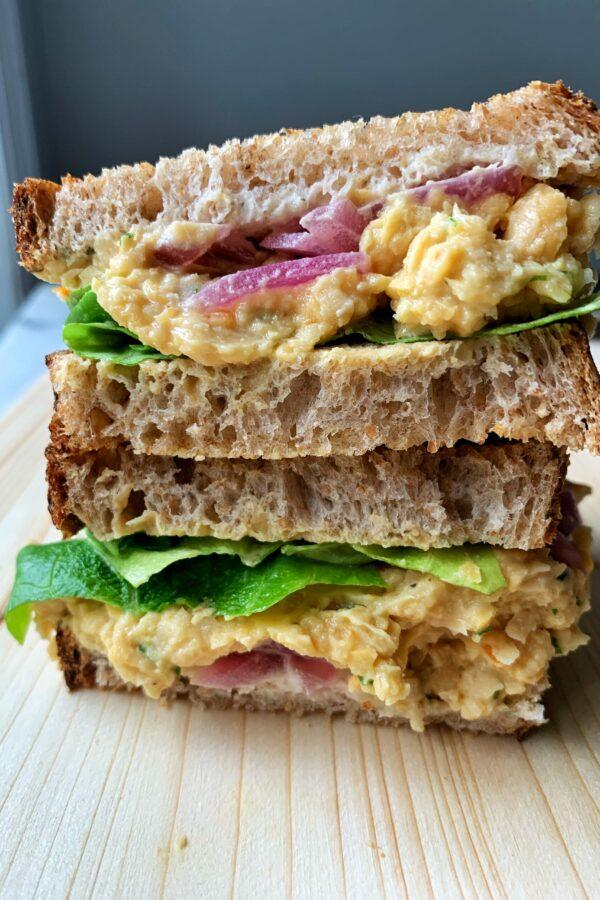The Best Vegan Chickpea Salad Sandwich