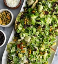 Crowd Pleaser Brussels Sprout Slaw!