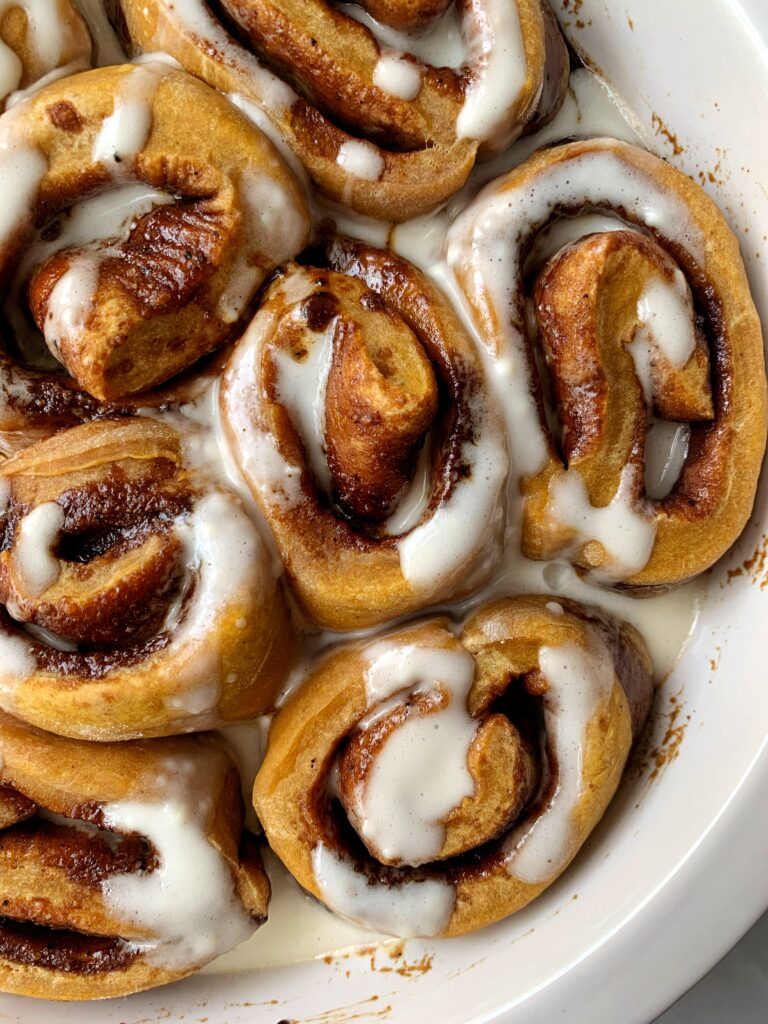 Easy and DELISH Brown Butter Pumpkin Cinnamon Rolls are the ultimate pumpkin recipe to make for all my cinnamon roll lovers!