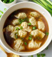 Easy 10-minute Wonton Soup!